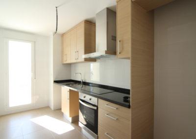 Cocina office apartamentos Blaumar en playa de Piles