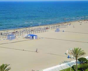 imagen playa de Gandia