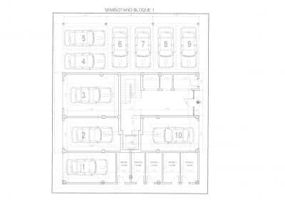 Planta semisotano, garajes y trasteros residencial xaloc