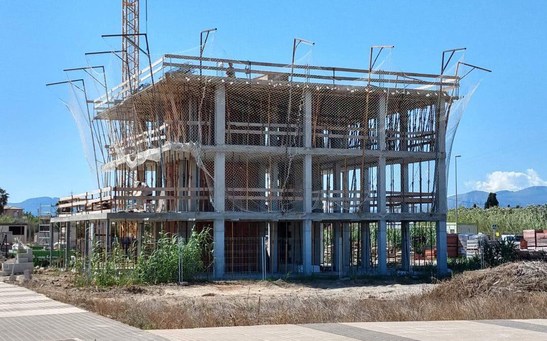 Residencial Xaloc, estado actual de obras en Junio 2018