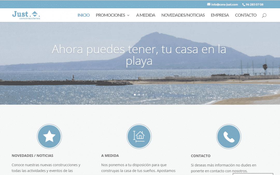 Construcciones Just SA estrena nueva web