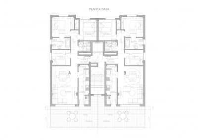 planta baja residencial xaloc